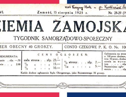 """""""Ziemia Zamojska"""" 5 lat po bitwie 1920"""