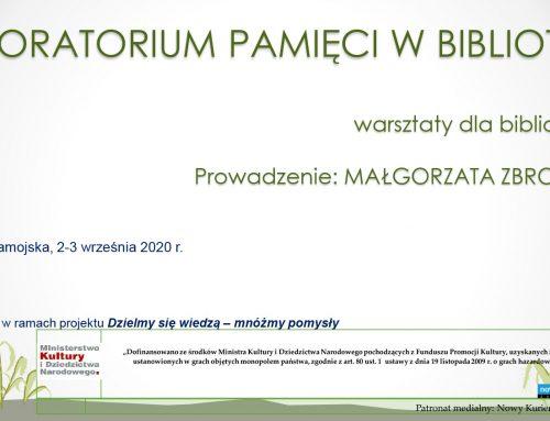 """Warsztaty """"Laboratorium pamięci w bibliotece"""""""