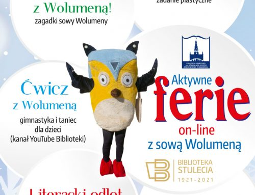 Książnica Zamojska zaprasza na Aktywne ferie on-line z sową Wolumeną.