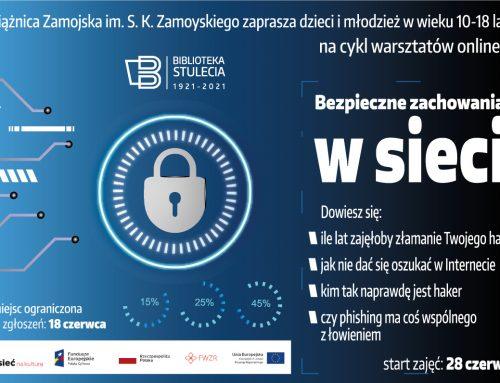 """Warsztaty online  """"Bezpieczne zachowania w sieci"""""""