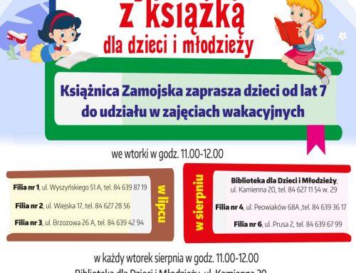 """""""Czytajmy – RAZEM"""" 2021 – projekt Książnicy Zamojskiej"""