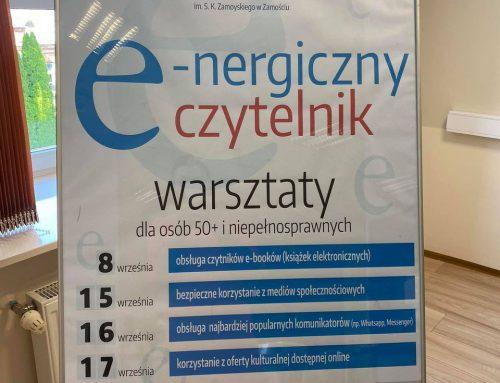 """Projekt """"E-nergiczny czytelnik"""" – warsztaty dla osób 50+ i niepełnosprawnych"""
