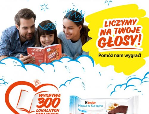 """Bierzemy udział w akcji """"Kinder Mleczna Kanapka. Przerwa na Wspólne Czytanie"""""""