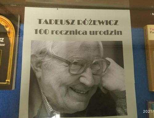 Małe wspomnienie o Tadeuszu Różewiczu – wystawa (Filia nr 6, Październik 2021)